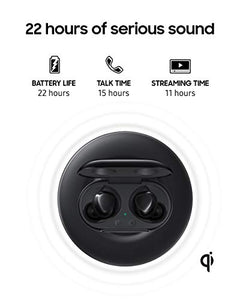 Samsung Galaxy Buds+ Plus, True Wireless Earbuds w/improved battery and call quality (Wireless Charging Case included), Black – US Version