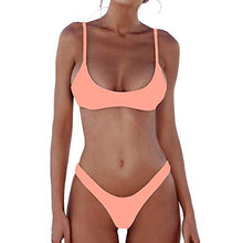 Load image into Gallery viewer, Womens Swimsuits 2 Pcs Brazilian Top Thong Bikini Set High Waisted Bathing Suits for Women