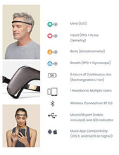 Load image into Gallery viewer, Muse 2: The Brain Sensing Headband - Guided Meditation Multi Sensor Headset Tracker | Feedback Device Monitors Brain Wave, Heart, Breath & Body Activity