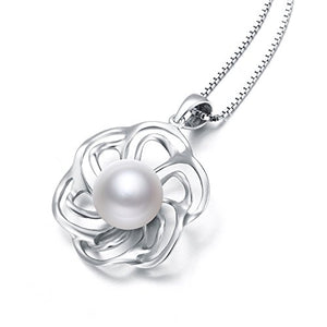 Nonnyl Pearl Necklace for Women Pearl Pendant Jewelry