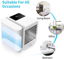 Load image into Gallery viewer, HOMFUL Personal Air Conditioner Air Cooler Fan, 3 in 1 USB Portable Mini Space Cooler, Evaporative Humidifier, Purifier, Cooling Fan for Home Offices Kitchen 2A Charger Included