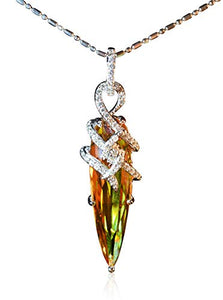 Tingle Alexandrite Necklace Pendant Sterling Silver Fine Jewelry