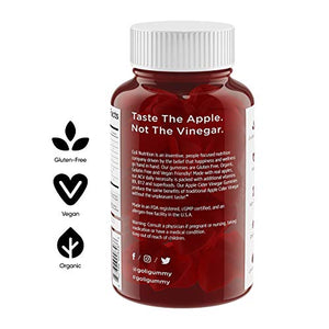World's First Apple Cider Vinegar Gummy Vitamins by Goli Nutrition - Immunity, Detox & Weight - (1 Pack, 60 Count,