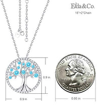 Load image into Gallery viewer, ELDA & CO. Tree of Life Aquamarine Necklace March Birthstone Jewelry Gifts for Women
