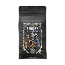 Load image into Gallery viewer, Bones Coffee Company Flavored Coffee Beans, S'morey Time Ground Coffee Beans, Low Acid Medium Roast S'mores Flavored Gourmet Coffee Beans (Ground)
