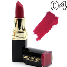 Load image into Gallery viewer, Matte Lipstick Lot Cosmetic Waterproof Long Lasting Pigment Velvet Miss Rose Brand Sexy Red Lip Matte Nude Lipstick
