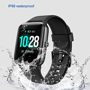 YAMAY Fitness Tracker Heart Rate Monitor Oshen Watches for Men Women,Fitness Watch IP68 Waterproof Digital Watch Sport Watch with Step Sleep Tracker Call Message Alerts Compatible iPhone and Android Phones