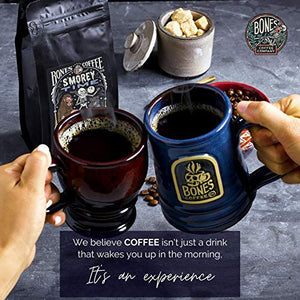 Bones Coffee Company Flavored Coffee Beans, S'morey Time Ground Coffee Beans, Low Acid Medium Roast S'mores Flavored Gourmet Coffee Beans (Ground)