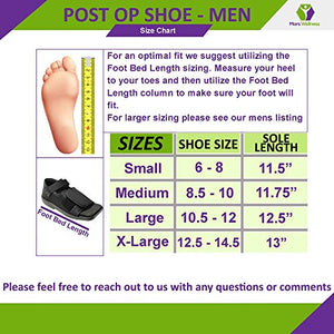 Mars Wellness Premium Post Op Broken Toe/Foot Fracture Square Toe Walking Shoe - Mens - Medium