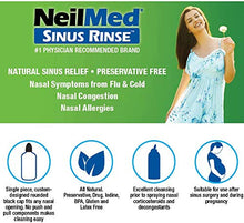 Load image into Gallery viewer, NeilMed Sinus Rinse All Natural Relief Premixed Refill Packets 100 Each