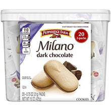 Load image into Gallery viewer, Pepperidge Farm Milano Dark Chocolate Cookies, 15 Ounce Multipack Tub, 20 Count, White