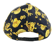 Load image into Gallery viewer, Versace Jeans Couture Black/Gold 100% Cotton Baroque Mid Visor Cap for Mens