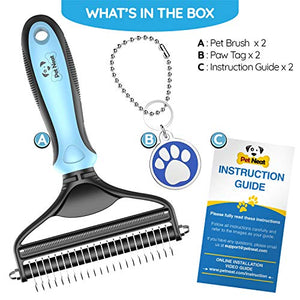 Dog Brush and Cat Brush – 2 Sided Pet Grooming Tool
