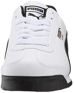 PUMA Men's Roma Basic Fashion Sneaker, White/Black Leather - 13 D(M) US