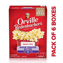 Load image into Gallery viewer, Orville Redenbacher's Movie Theater Butter Popcorn, Single Serve, Pack of Six (6) 12-Count Boxes