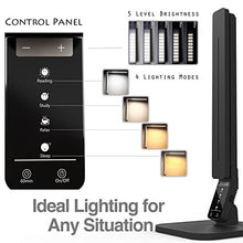 Load image into Gallery viewer, Lampat LED Desk Lamp, Dimmable LED Table Lamp Black, 4 Lighting Modes