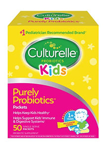 Culturelle Kids Daily Probiotic Packets Dietary Supplement | Helps Support a Healthy Immune & Digestive System 50 Single Packets