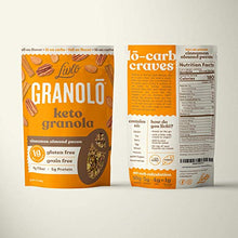 Load image into Gallery viewer, Livlo Keto Nut Granola Cereal - 1g Net Carbs - Grain Free & Gluten Free - Perfect Keto Friendly Low Carb Healthy Snack - Paleo & Diabetic Friendly Food - Cinnamon Almond Pecan, 11oz