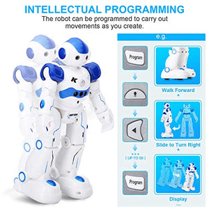 KINGSDRAGON Robot Toys RC Robot for Kids Rechargeable