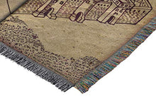 "Load image into Gallery viewer, Harry Potter Marauder's Woven Tapestry Throw Blanket, 48"" x 60"", Maruader's Map"