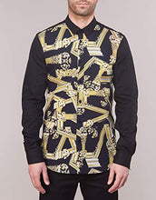 Load image into Gallery viewer, Versace Jeans Cotton Pop All Over Logo Black Shirt 48 Black