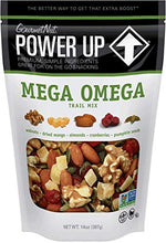 Load image into Gallery viewer, Power Up Trail Mix, Mega Omega Trail Mix, Non-GMO, Vegan, Gluten Free, No Artificial Ingredients, Gourmet Nut, 14 oz Bag, Green