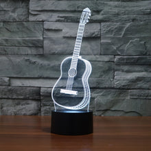 Load image into Gallery viewer, 3D Optical Illusion LED guitar Night Light, 7 Color Changing Night Light, Room Decor Light, Table Desk Lamp