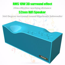 Load image into Gallery viewer, Bluetooth Speaker Lewinner B1 3D Surround Stereo Speaker TF Slot USB FM Radio Line in with LED Screen altavoz