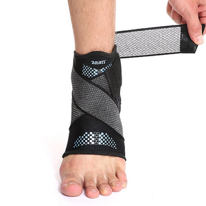 1pc Sport Ankle Brace Protector Adjustable Anti-sprain Compression Feet Support Wrap Bandage Protection With Strap