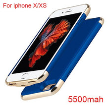 Load image into Gallery viewer, Ultra Thin Power Bank Case for iPhone 6s 6 7 8 plus X XS Battery Charger Case For iPhone X XS 8 7 6 6s Power Battery Case