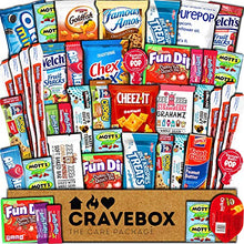 Load image into Gallery viewer, CraveBox Care Package (45 Count) Snacks Food Cookies Granola Bar Chips Candy Ultimate Variety Gift Box Pack Assortment Basket Bundle Mix Bulk Sampler Treats College Students Final Exam Father's Day