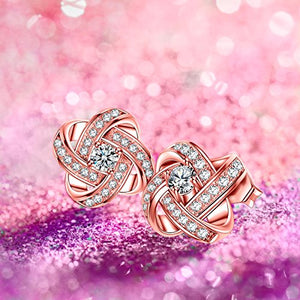 NM NINAMISS Earrings Rose Gold Plated Earrings Hypoallergenic Birthday Gift