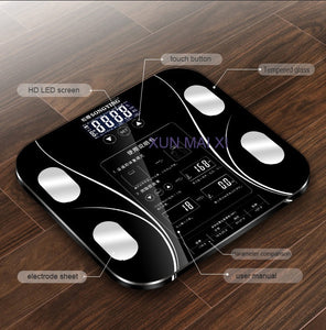 13 Body Index Electronic Smart Weighing Scales Bathroom Body Fat bmi Scale Digital Human Weight Mi Scales Floor lcd display