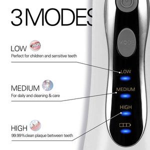 3 Modes Cordless Oral Irrigator Portable Water Dental Flosser USB Rechargeable Water Jet Floss Tooth Pick 5 Jet Tips 300ml
