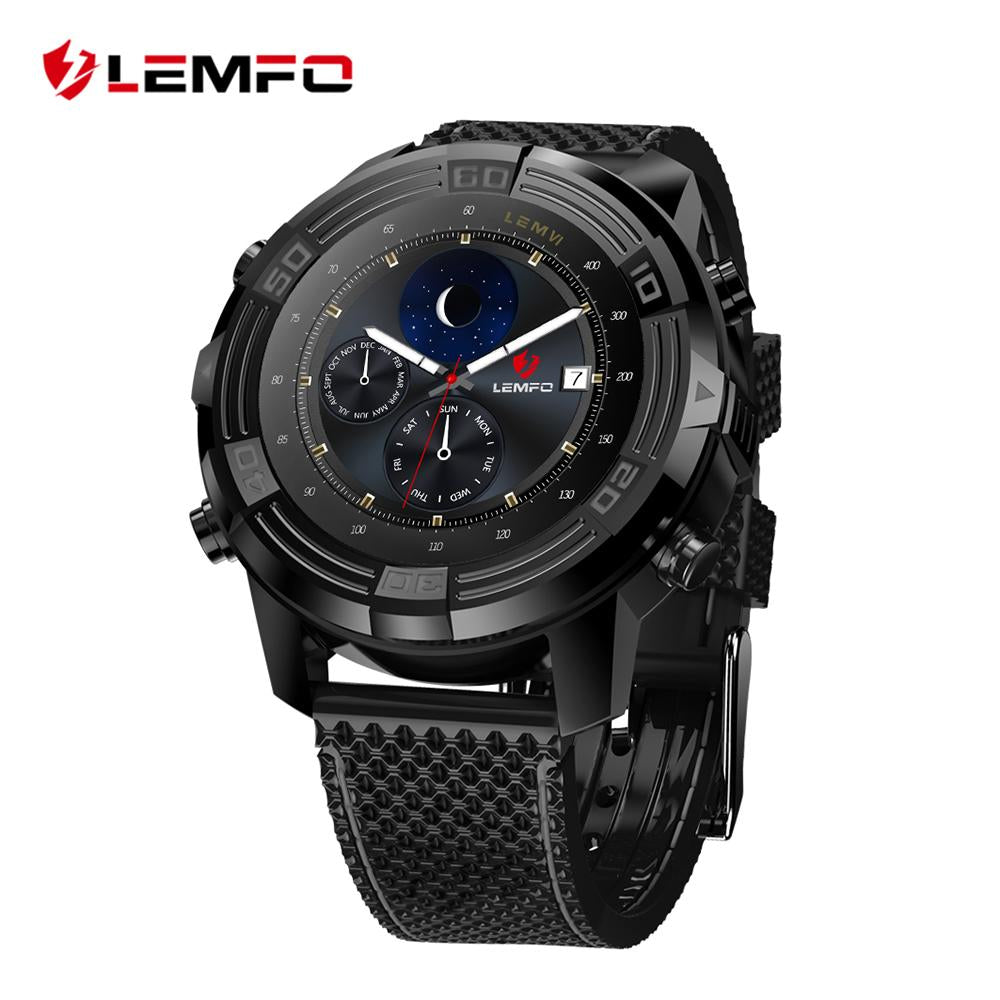 LEMFO LEM6 Android 5.1 Smart Watch Phone Waterproof GPS Tracker 1GB + 16GB  with Replaceable Strap
