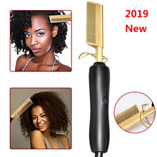 Load image into Gallery viewer, Comb Wet and Dry Hair Use Hair Curling Iron Straightener Comb Electric Environmentally Friendly Titanium Alloy Hair Curler
