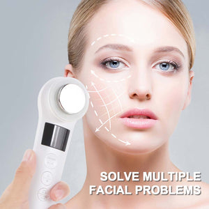 Professional Facial Lifting Vibration Massager Face Body Spa Ion Beauty Instrument Hot Cold Hammer Ultrasonic Cryotherapy  Beaut