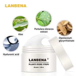 LANBENA Blackhead Remover Nose Mask Pore Strip Black Mask Peeling Acne Treatment Black Deep Cleansing Skin Care