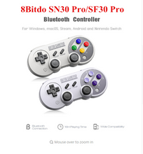 Load image into Gallery viewer, 8Bitdo SN30 Pro/SF30 Pro Wireless Bluetooth Game Controller with Joystick for Windows Android macOS Steam Nintendo Switch