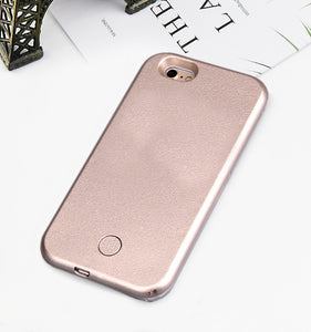Luxury Luminous Phone Case For iPhone 6 6s 7 8 Plus X Perfect Selfie Light Up Glowing Case Cover