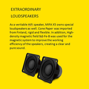 MIFA X5 Speaker Subwoofer USB 3.5mm Heavy Bass Multimedia Speaker with Enhanced Sound