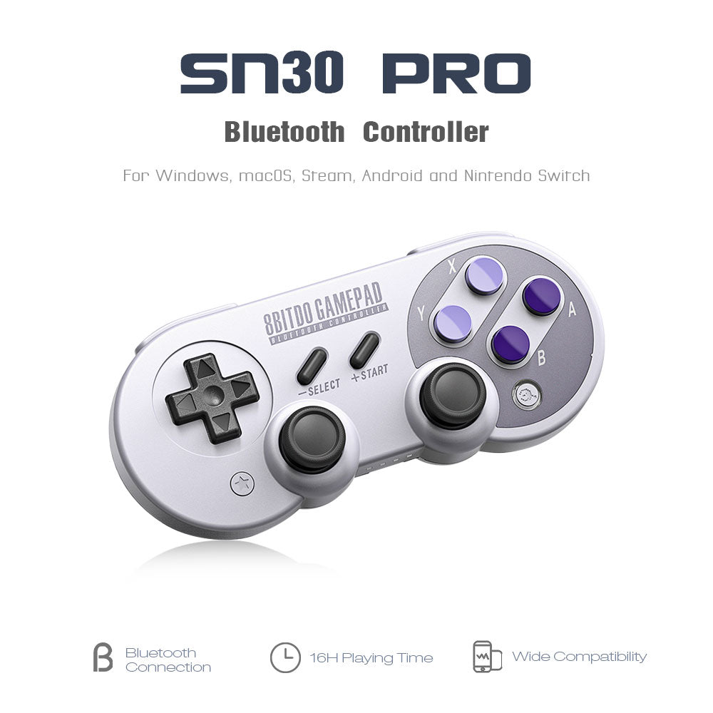 8Bitdo SN30 Pro/SF30 Pro Wireless Bluetooth Game Controller with Joystick for Windows Android macOS Steam Nintendo Switch