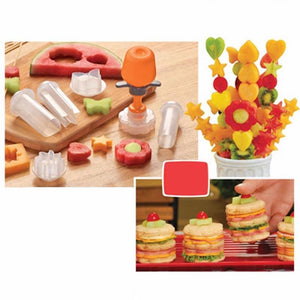 Creative Kitchen Pop Tools Plastic Vegetable Fruit Shape Cutter Slicer Veggie Food Chef Snack Maker Cake