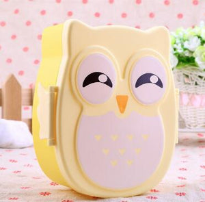 Microwave Bento Container with compartments Case Dinnerware bento box food box Storage for kids Kawaii Owl school lunch box