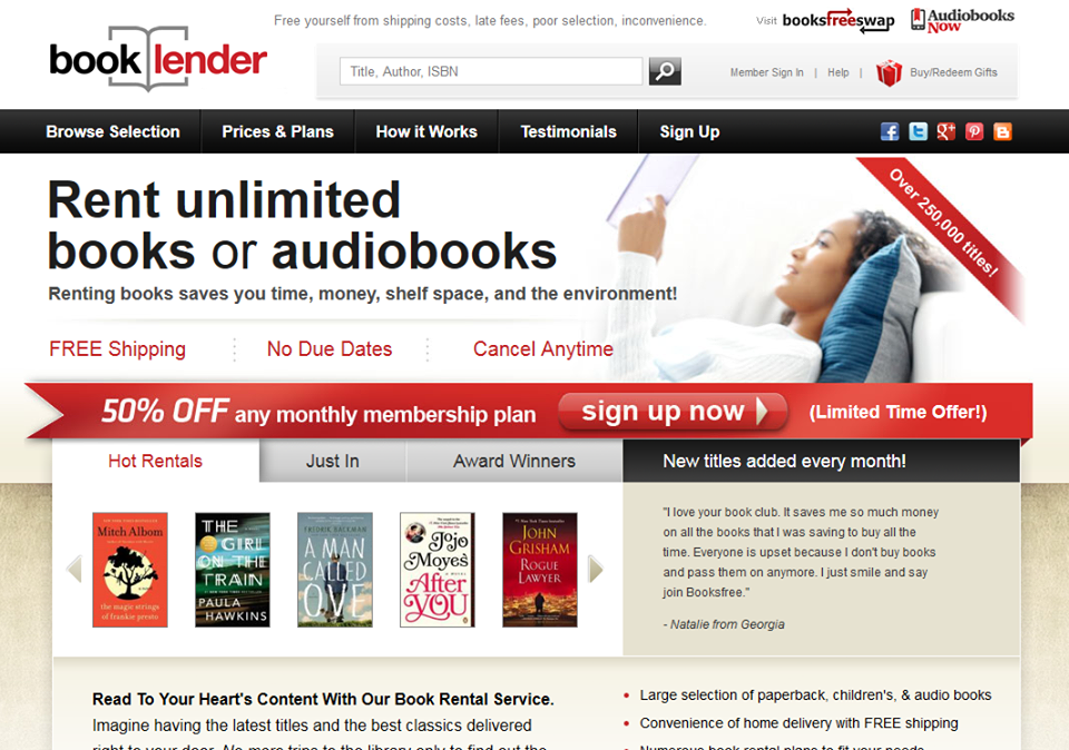 Rent unlimited books or audiobooks
