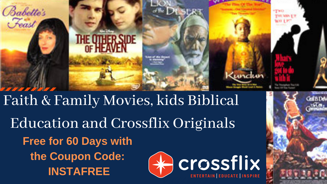 crossflix ! Faith & Family Movies, Kids Biblical Education, and  Originals