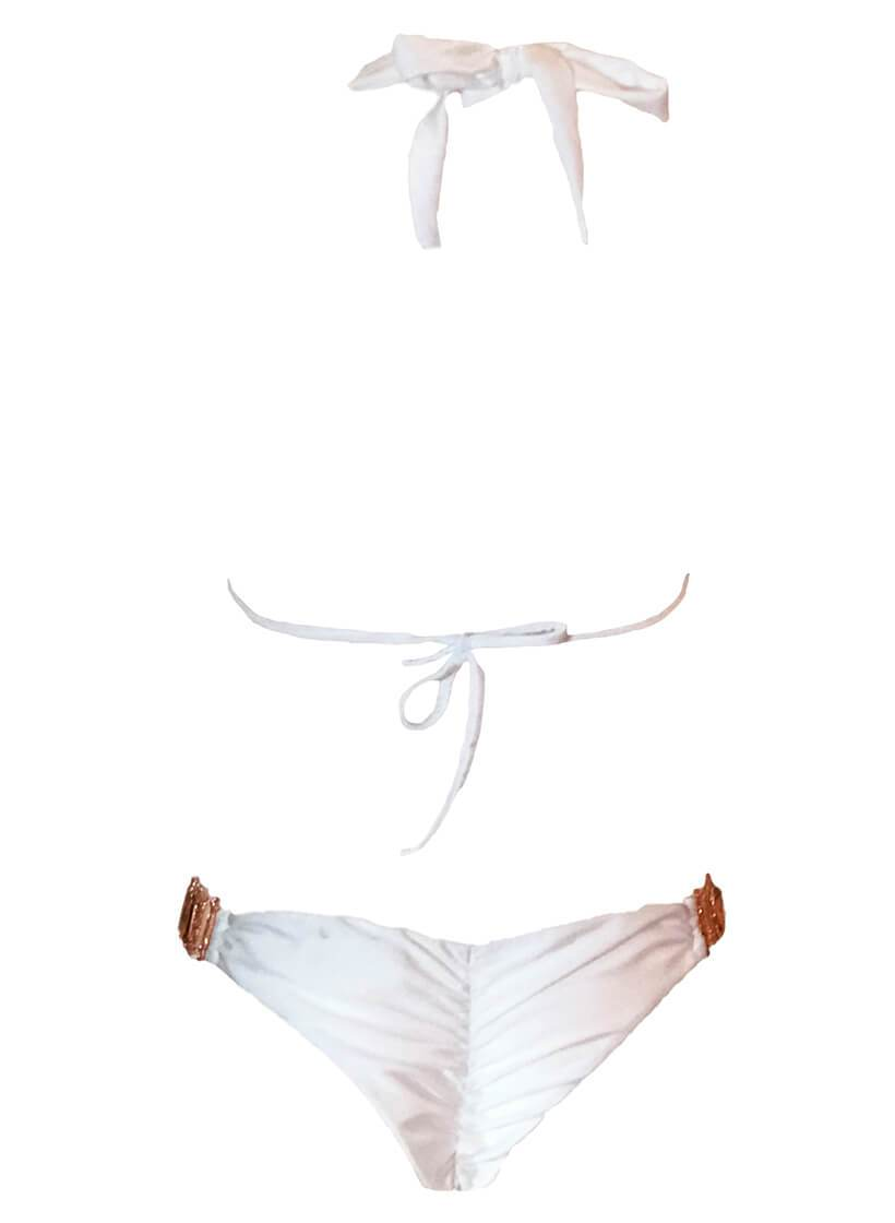 Tina Halter Top & Skimpy Bottom - White