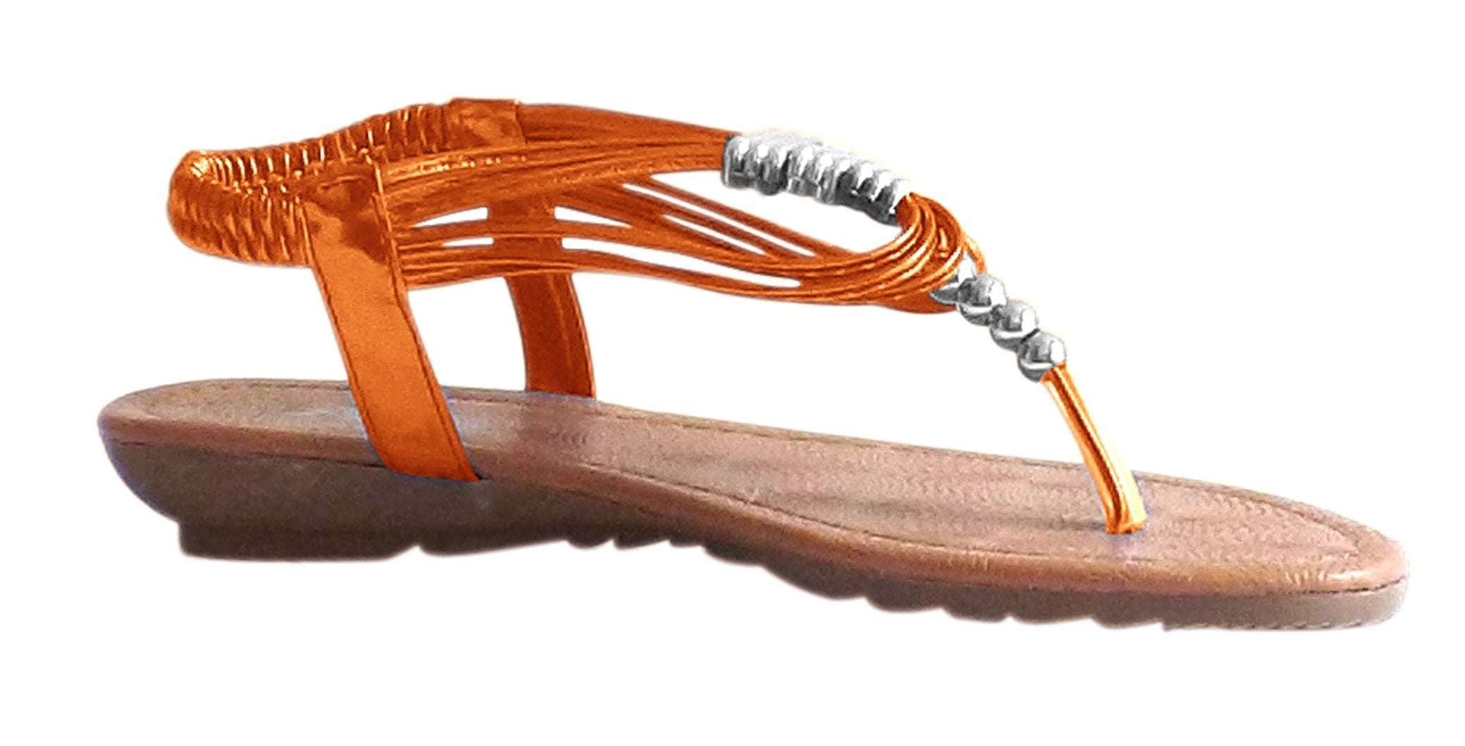 Shoes-Peach Couture Lana Beaded Thong Sandal w/Closed Back-in Colors