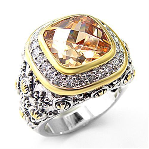 Ring in  925 Sterling Silver Reverse Two-Tone