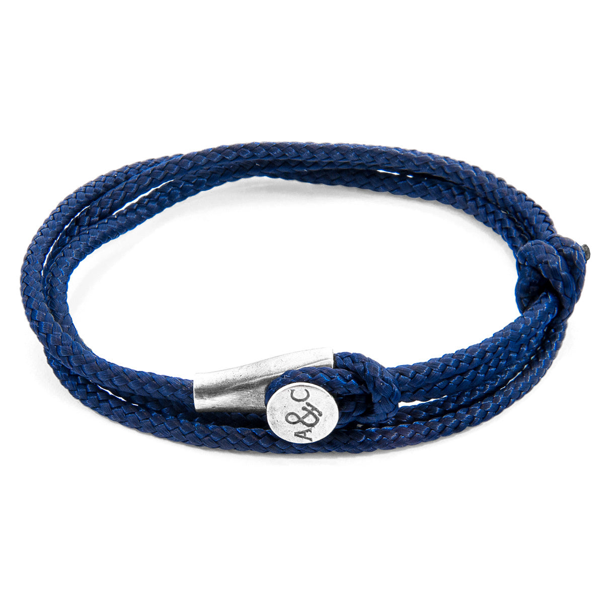 Bracelet Rope Navy Blue Dundee Silver Jewelry